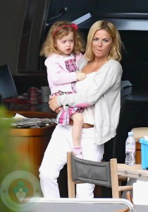 Geri Halliwell and Bluebell in South of France