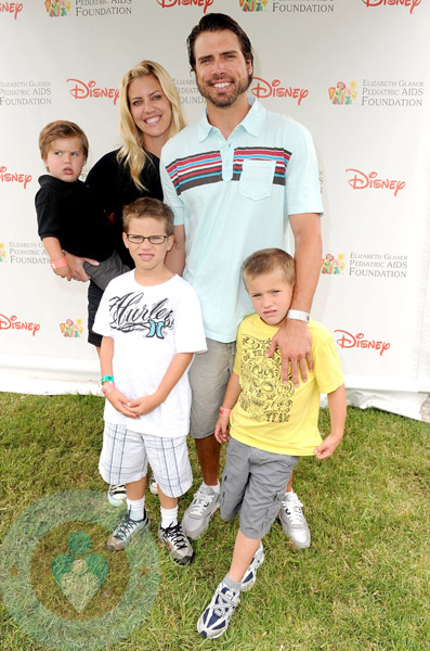 Joshua Morrow with Wife Tobe Keeney and sons Cooper, Crew  and Cash