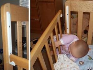 Child Craft brand drop-side cribs recalled on June 24,2010