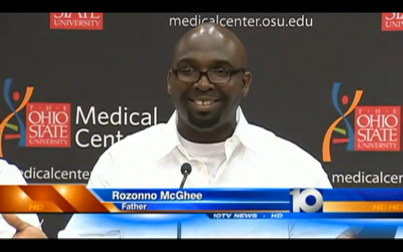 The new daddy Rozonno McGhee