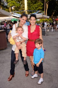 Natalie Morales and Jessica Seinfeld, with sons Josh Morales and Shepherd Seinfeld