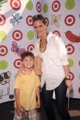 Natalie Morales and son Josh Morales