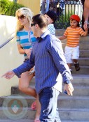 Britney Spears w/ security Sean P in the background