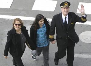 John Travolta, Ella Blue and Kelly Preston