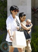Kris Jenner, Kourtney Kardashian and Mason Disick