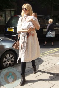 Claudia Schiffer and Baby Cosmina