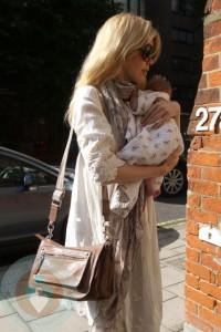 Claudia Schiffer and Baby Cosmina
