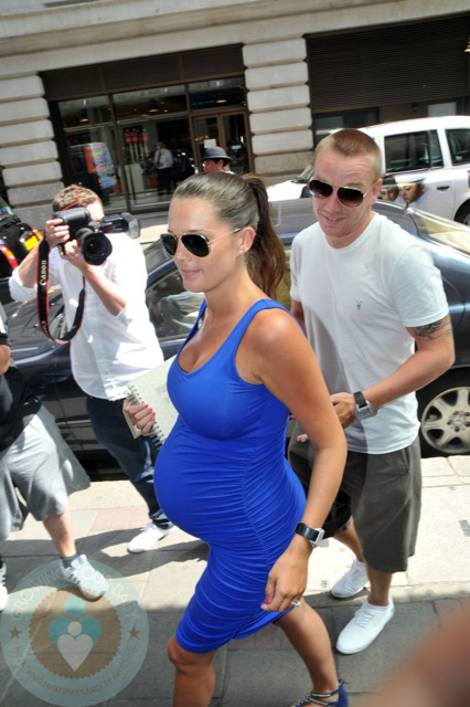 An expectant Danielle Lloyd with boyfriend Jamie O'Hara