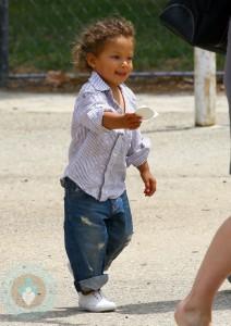 Nahla Aubry at the Park