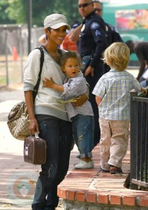 Halle Berry and Nahla at the park