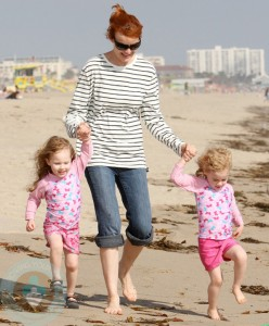 Marcia Cross with Eden and Savannah