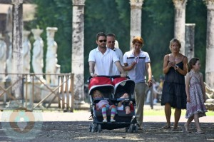 Jason Priestly with kids Ava and Dashiell