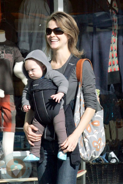 Keri Russell with son River