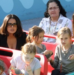 Salma Hayek and Her Girls Enjoy The Day At Disneyland!