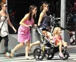 Jennifer Garner with daughters Violet and Seraphina