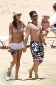 Alessandra Ambrosio with fiance Jamie Mazur and daughter Anja