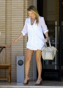 Ali Larter out shopping at Barney's in LA