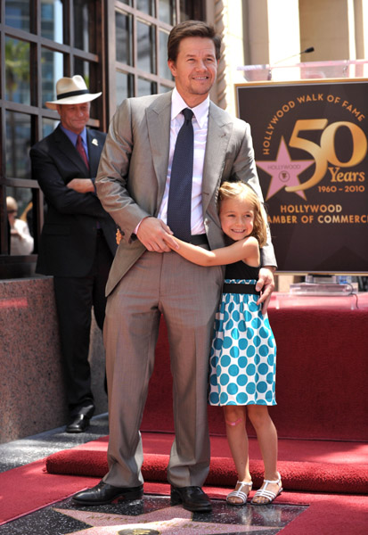 Wahlberg with daughter Ella