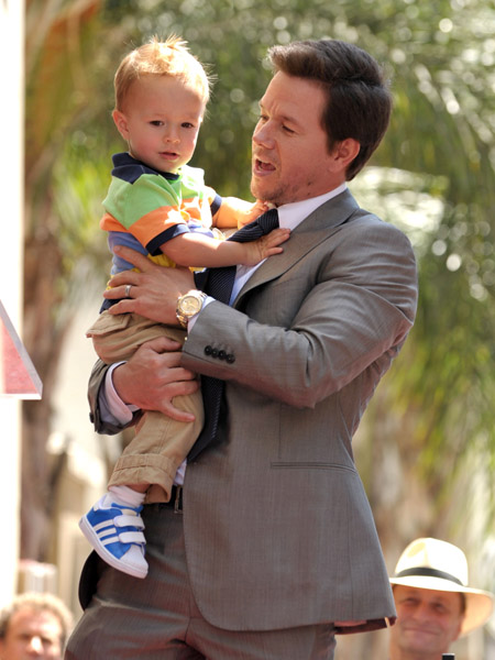 Wahlberg with son Brendan
