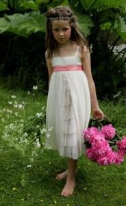 Cream Silk Chiffon Charlie Dress