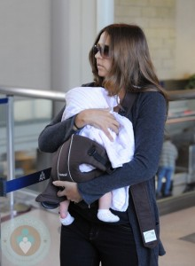 Luciana Damon wearing daughter Gia