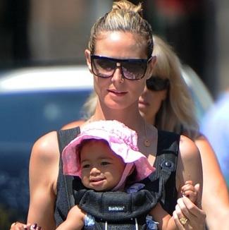 Heidi Klum is A Babywearing Mama!
