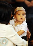 Kourtney Kardashian holds son Mason Disick