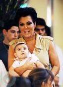 Kriss Jenner holds grandson Mason Disick