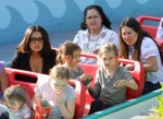 Salma Hayek and daughter Valentina and step-daughter Mathide Pinault