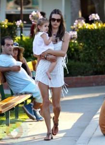 Alessandra Ambrosio and daughter Anja