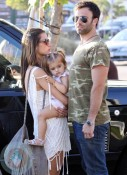 Alessandra Ambrosio with husband Jamie Mazur and daughter Anja