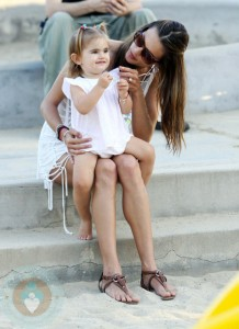 Alessandra Ambrosio and daughter Anja