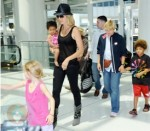 Heidi Klum with kids Lou, Johan, and Leni
