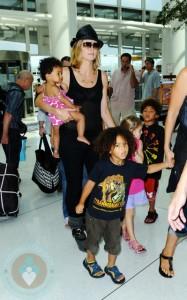 Heidi Klum with kids Lou, Johan, Henry and Leni