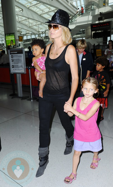 Heidi Klum with daughters Lou and Leni