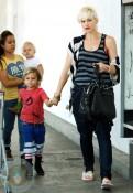 Gwen Stefani with sons Kingston and Zuma