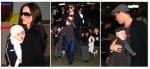 Angelina wearing Vivienne & Brad Pitt wearing Knox