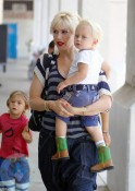 Gwen Stefani with sons Kingston and Zuma