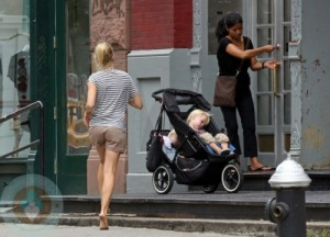 Naomi Watts with Nanny