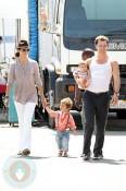 Camilia Alves with son Levi & Matthew McConaughey with daughter Vida