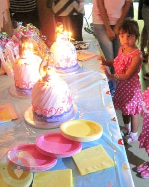 Sam with her Barbie Birthday Cakes