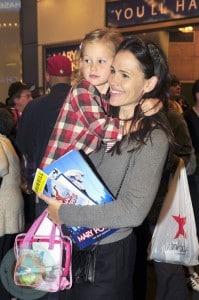 Jennifer Garner and Violet at Mary Poppins