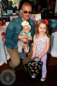 Joey Lawrence and daughters Liberty and Charleston