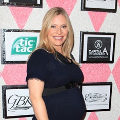 Emily Procter Shows Off Her Bump At Emmys Event