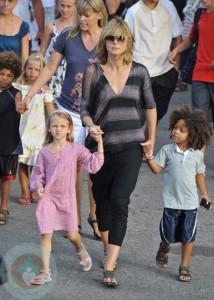 Heidi Klum with Leni and Henry