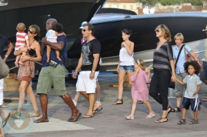 Heidi Klum and Seal with their 4 kids Leni, Henry, Johan and Lou