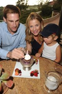 Jessica Capshaw, husband Christopher Gavigan and son Luke