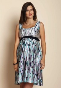 Print STUNNING CHARMEUSE DRESS