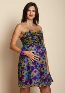 Watercolor SWEETHEART NECK DRESS