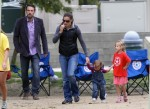 Ben Affleck and Jennifer Garner with kids Violet and Seraphina